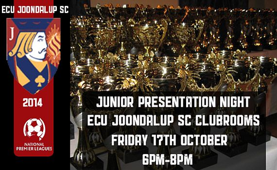 ECU Joondalup SC Junior Presentation Night 2014