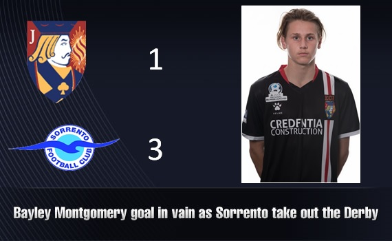 Bayley Montgomery goal in vain as Sorrento take out the Derby
