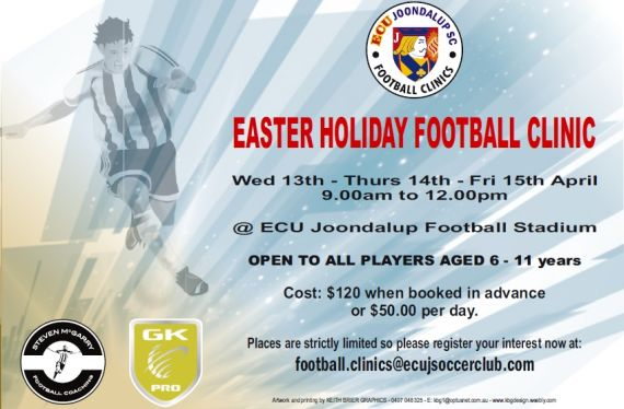 ECU Joondalup Easter Holiday Football Clinics