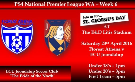 Jacks travel to Floreat Athena on St George's Day