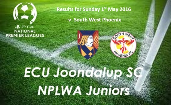 ECU Joondalup SC Junior PS4NPLWA – Results v South West Phoenix