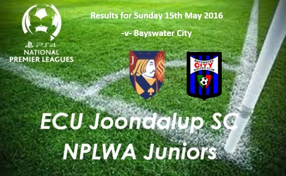 ECU Joondalup Junior PS4NPLWA Results Week Six v Bayswater City