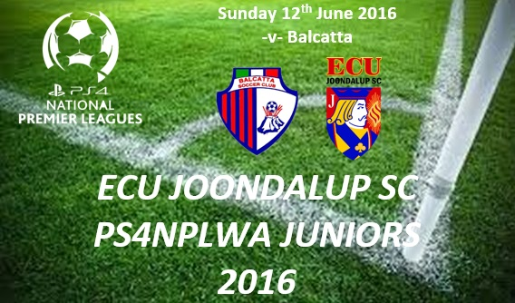 ECU Joondalup PS4NPLWA Junior Fixtures for Week 10