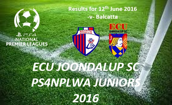 ECU Joondalup PS4NPLWA Junior Results from Week 10