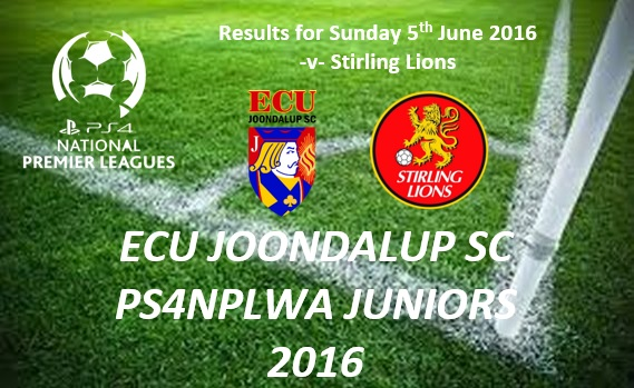 ECU Joondalup PS4NPLWA Junior Results from Week 9