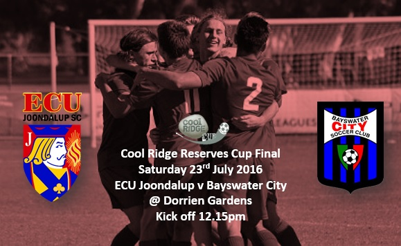 Young Jacks set for Cool Ridge Reserves Cup Final