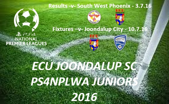 ECU Joondalup PS4NPLWA Results and Fixtures