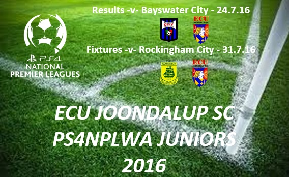 ECU Joondalup PS4NPLWA Junior Results and Fixtures