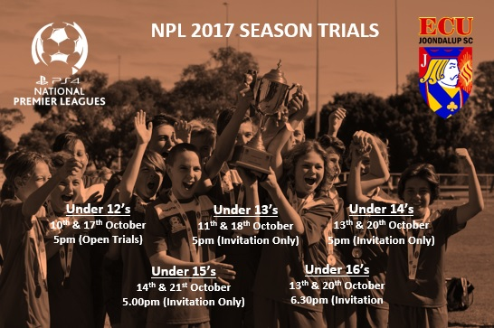 ECU Joondalup SC Under 15′s – NPL Trials