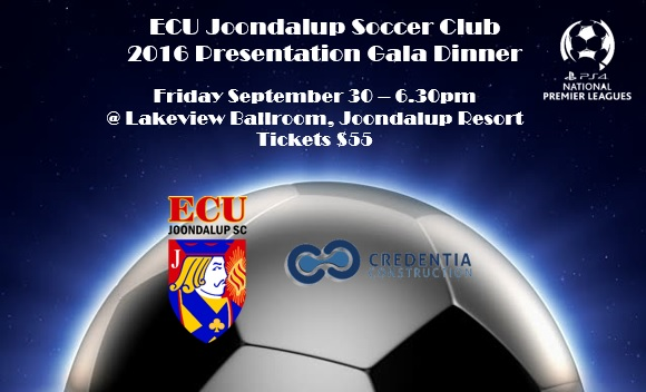 ECU Joondalup Soccer Club 2016 Presentation Gala Dinner