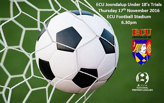 ECU Joondalup under 18's trials