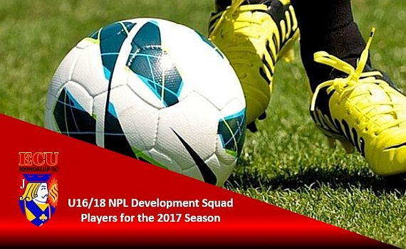 U16/18 NPL Development Squad Players wanted for the 2017