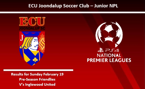 ECU Joondalup NPL Junior Pre-Season Results