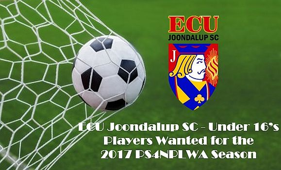 ECU Joondalup SC looking for under 16 players