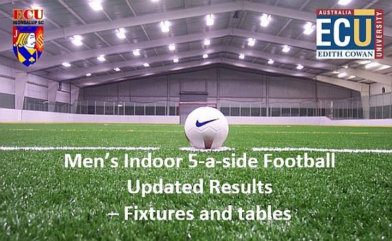 ECU Joondalup SC Indoor 5-a-side results/fixtures – Update