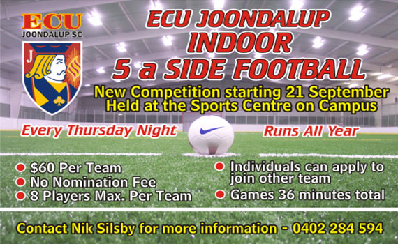 New ECU Indoor Football Competition