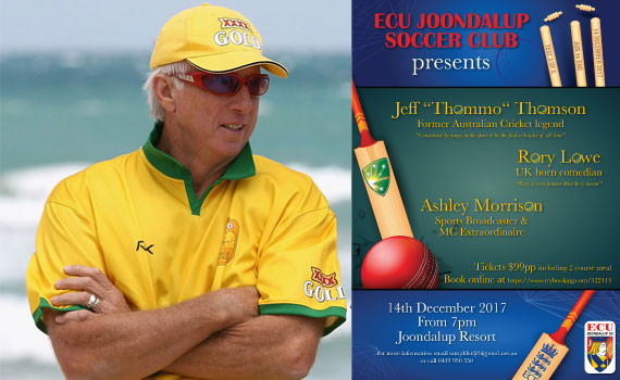 ECU presents a night with Jeff Thomson and Rory Lowe
