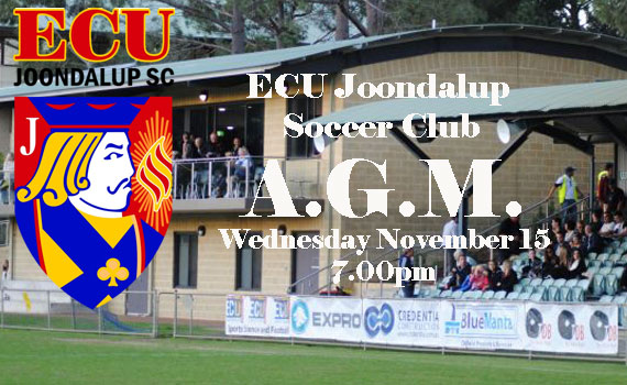ECU Joondalup SC 2017 AGM announcement