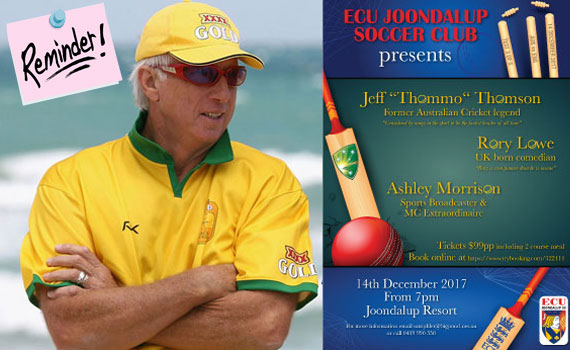 Get bowled over by Jeff Thomson