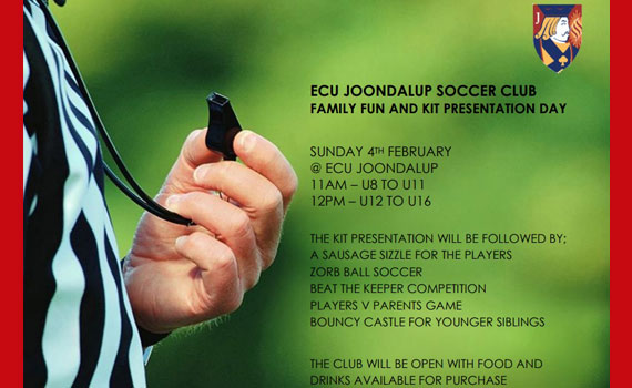 ECU Joondalup SC Family Fun and Kit Presentation Day