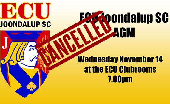 ECU Joondalup AGM – Cancelled