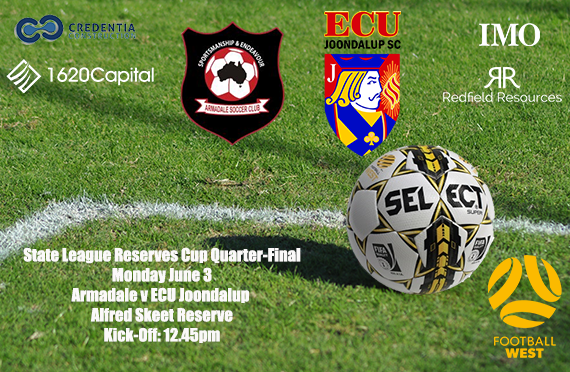 Under 20's in Cup Quarter-final action on Monday