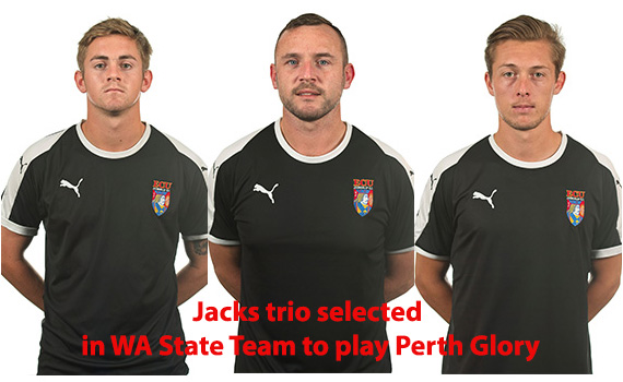 Jacks Trio selected in WA State Squad
