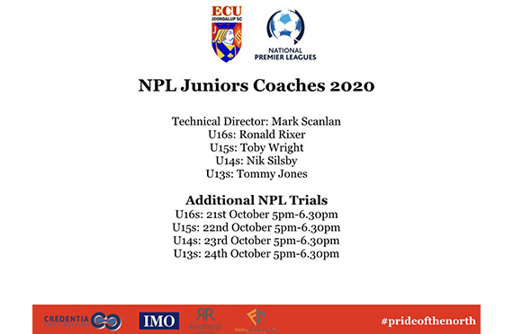 2020 ECU Academy NPL Coaches Announced