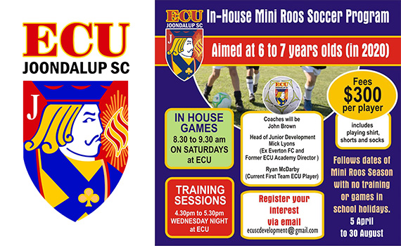 ECU Joondalup SC Mini-Roos in house program