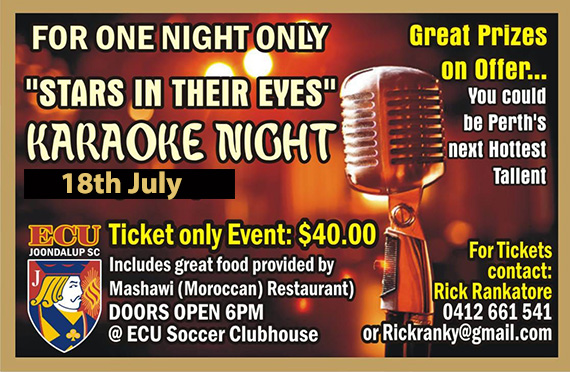 ECU Joondalup SC 'Stars in their Eyes' Karaoke Night
