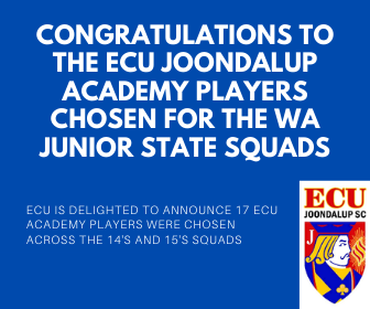 Congratulations to the ECU Academy State Junior Squad players