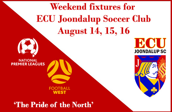 All this Weekend fixtures for ECU Joondalup SC