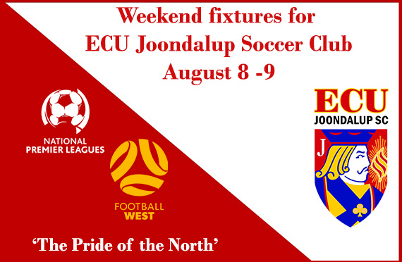 All the Weekend fixtures for ECU Joondalup SC