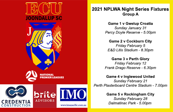Jacks drawn in Group A of NPLWA Night Series