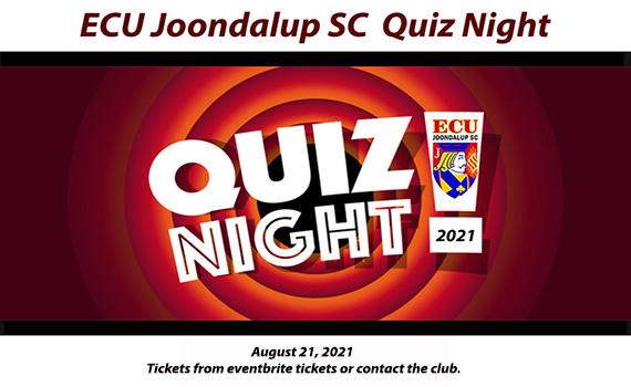 Get your tickets for the ECU Quiz Night